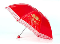 Wholesale Celebrated Chinese red umbrella traditional wedding custom mandarin duck happiness