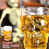 glassware - Piece ounces Large Size Crystal Skull Glassware Skull Head Stein