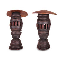 asia crafts - Features handmade teak Thai crafts home decorative floor lamp outdoor landscaped courtyard lawn lamp Southeast Asia