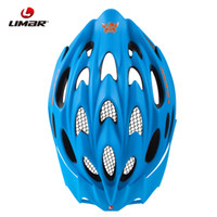 Cheap Wholesale-Limar 757 Blue Integrally-molded Helmet Safety Mountain Bicycle Bike Helmet Sports Helmet Size L (55-61cm)260g Free Shipping