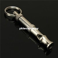 Wholesale Dog Silver Whistle With Key Chain Ultrasonic Sound Training Whistle For Pitch Training Commard x7mm