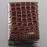 alligator money clip - Hot sale new fashion men wallets second leather casual short design card holder money purse clips wallet for men