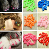 Wholesale 20pcs Pet Cat Paw Claw Control Nail Caps Covers Protector Protective Colorful Non toxic Safety Practical