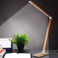 ac light dimmer - Foldable Metal Reading W Dimmer Bright LEDs Desk Lamp Table Lighting Toughened Glass Base Power Night Vision Led Lamp AC220V