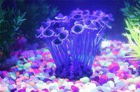 Wholesale Mix style Aquarium Fish Tank colors Silicone Sea Anemone Ornamen Emulational Sea Plant Anemone Coral Ornament Decor For Aquarium Fish Tank