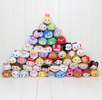 Wholesale 7 cm Mini Tsum Tsum Plush Toy Thumper Doll Stitch Mermaid Sully Cute Elf Screen Cleaner for Juguetes Set