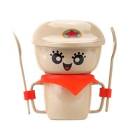 baby china dishes - 5pcs Eco friendly Natural Rice Husk Fiber lunch box for kids Dinnerware Set Tableware Kit for Baby Children dishes and plates