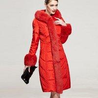 Cheap women down parkas Best women winter fur coat
