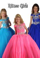 al por mayor las niñas se visten de flores ramo-Vestidos Meninas 2015 Girls Dresses vestido de bola vestidos de lentejuelas Bouquet Vestido De Noiva Flower Dresses chica piso de longitud J1013