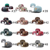 Wholesale Colorful Hater Snapbacks Floral Bandanna Print Gold Label in the Middle Snap Back Flat Brim Fashion Adjustable Caps Cheap Hats