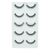 best human hair extensions brand - Best Seller Pairs Brand Black False Eyelashes Human Hair Fake Eyelash Extension Thick Eye Lashes Freeshipping