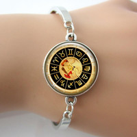 astrology photos - Astrology Image Photo Art bangles Glass cabochon dome picture bangles Astrology Bracelets Good Quality Hot Sale