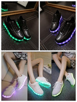 Cheap PrettyBaby 8 color LED luminous shoes men and women fashion Casual Shoes USB charging light shoes colorful glowing couples leisure flat shoe