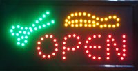 business open sign - 2016 Ultra Bright LED Neon Animated Hair Cut Salon Open Sign Inch of Business open
