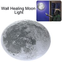aa wall lamps - LED Wall Night Light Healing Moon Lamp with Remote Controller Beautiful AA batteries LED Night Light up