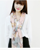 long silk scarf - Santa_ Brand Voile Shawl Long Scarf Printed Scarves Factory Outlets Scarf Fashion Fast shipping High Quality