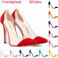 red sole shoes - 2015 New Red Sole Pumps Women Shoes High Heels CM Flock Red Buttoms Women Pumps Wedding Shoes Sapatos Femininos
