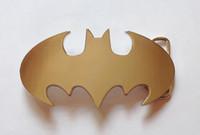 batman belts - chrome batman logo belt buckle
