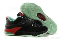 Wholesale 2015 KD Men Basketball Shoes KD7 Good Apples Yeezy High quality Sports Sneakers Black Red Size US7 EU40