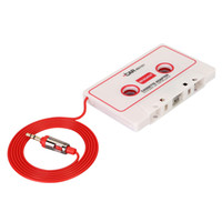 Wholesale China Car Cassette Adapters for iPod iPad iPhone MP3 Mobil Device White Black