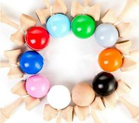 Wholesale 15 Colors CM Kendama Ball Japanese Traditional Wood Game Toy Education Gifts Activity Gifts toys DHL Free