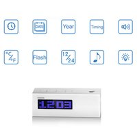 Wholesale Digital Projection Clock with Temperature Date Time Display Excellent Multifunctional LCD Alarm Clock with FM Radio Function