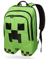 Wholesale Minecraft bag Minecraft backpack Minecraft creeper backpack school bag
