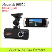 auto blackbox - LS650W Car DVR Cameras Dual Lens Cam Dash Novatek Auto Accessories Auto Car Blackbox P Night Vision G sensor Car Camera Recorder