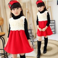 beautiful girls in skirts - 2015 autumn new style girls vest skirt beautiful flowers years princess fashion dress baby birthday gift in stock A5