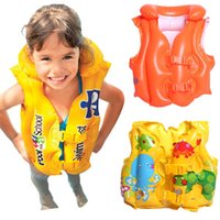 baby float suit - Baby Kid Toddler Child Children Infant Boy Girl Inflatable Float Pool Beach Life Jacket Swim Wear Vest Swimming Safety Aid Training Suit