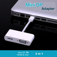 Wholesale Mini DisplayPort to HDMI VGA Converter in Thunderbolt Mini DP Adapter For imac Air Pro