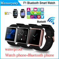 Cheap 2015 Newest F1 Bluetooth Smart watch waterproof Smart watch Hands-free for iPhone Samsung HTC Xiaomi Android Smartphone high quality 002825
