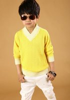 big bumps - The new male big TongQuan bump color cotton sweater collar high grade children s sweaters