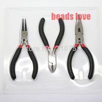 Wholesale Black Scissor Diagonal Roll Plier Jewelry Bead Making Tools set DIY Pliers cm w02539