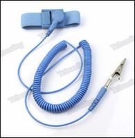 antistatic wrist strap - NEW Anti Static Antistatic ESD Adjustable Wrist Strap Band Grounding electrostatic belt Blue MQ500