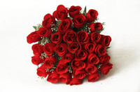 Wholesale Bridal Bouquet Wedding Red Rose Flower Handmade Fashion Elegant Sale
