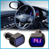 Wholesale AUTO LED Display Universal Type DC Charging Car Charger Adapter Voltage Voltmeter for Diagnostic Tools renault tools electric