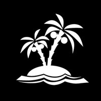 Personalized Sticker beach windshield - Car Stickers Palm Trees Vacation Beach Coconut Ocean Window Vinyl Decal Sticker Car Truck Suv Van