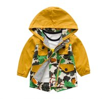 baby waist coat - 2015 Hot sale Camouflage Dust Boy Tench Coat Elastic Waist Draw String Outwear For Baby Patchwork Hoodie Clothing For Little Kid CR56