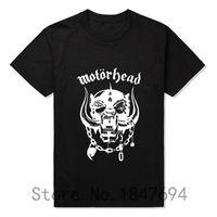 band tshirt printing - New Summer Style Men Print Motorhead T Shirt Rock Band Metal T shirt Skull Motorhead Tshirt Cotton Short Sleeve Punk T shirts