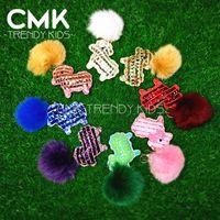 real diamonds - CMK FF003 Little Pony Horse Keychain Real Fox Feather Diamond Alike Girls Bag Accessories Monster Keychain Women Handbag metal