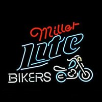 bicycle place - 17 quot x14 quot Miller Lite Bike Bikers Bicycle Logo Real Glass Neon Light Signs Bar Pub Restaurant Billiards Shops Display Signboards