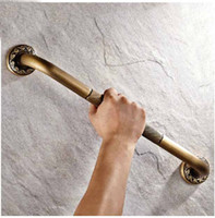 Wholesale Wall Mount Antique Brass Bathroom Non Slip Safety Grab Bar Exquisite Carved Base