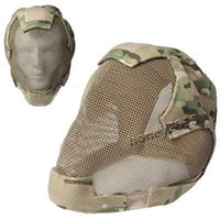 Wholesale Cycling Helmets MZ6 Wire Guard Camouflage Tactical Helmet Camouflage Fencing Mask Cycling Protective Gear Unisex High Quality