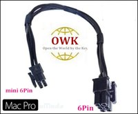 Wholesale Mac Pro G5 mini pin to pci e pin video card power cable for GTX285 HD5770 GT HD4870 HD6850
