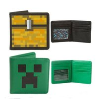 Wholesale Mine JJ Blame Creeper Wallet pu leather purse green wallet craft game my world Wallet card bag in stock