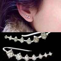 Wholesale Top Quality New Fashion Four Pron Setting Diamonds K Earring Jewel Gold and Sliver Colors