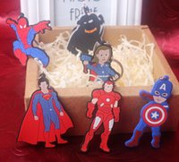aged tin - BY DHL New Silicone The Avengers Age of Ultron Key Chains Captain America Keyrings for Kids