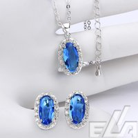 Wholesale 18k real platinum gold plated earrings necklace Vintage acessorios new designer jewerly women