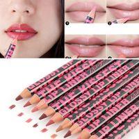 Wholesale 100pcs Waterproof Moisturizing Lip Liner Lip liner Pencil Makeup Cosmetic lipstick lq A